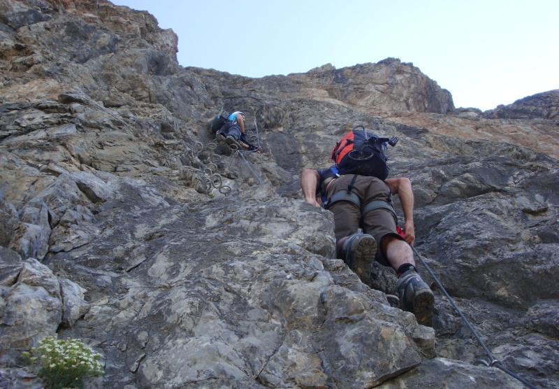 Klettersteig La Resgia : Klettersteige und bergtouren rund um st. moritz